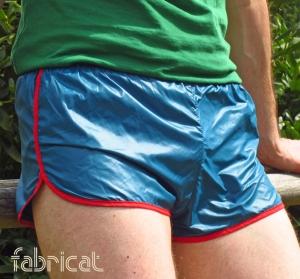 fabricat retro herren sprinter shorts sporthose glanz nylon