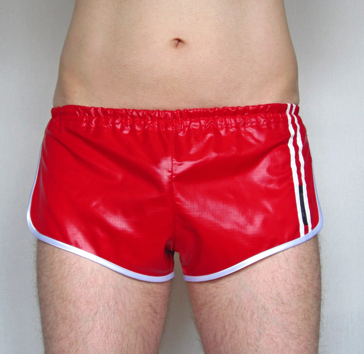 retro 80s shiny ripstop nylon sprinter shorts for men low. Black Bedroom Furniture Sets. Home Design Ideas