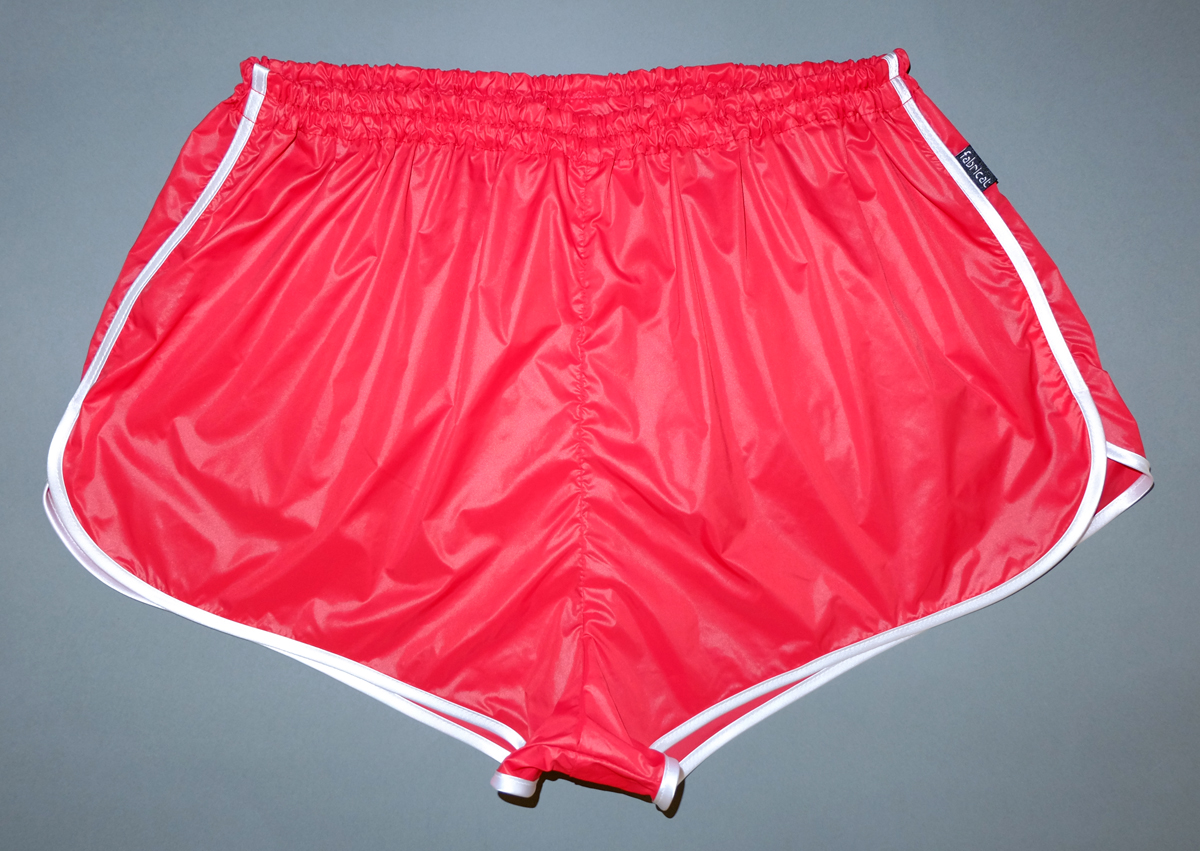 retro sprinter shorts wafer-thin shiny nylon for women and men ...