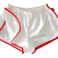 PLAYBOY Edition * Retro Sprinter Shorts aus glänzendem Nylon für Damen